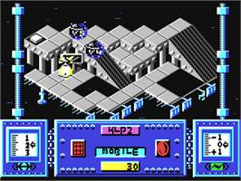 In game image of Magnetron on the Commodore 64.