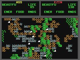 In game image of Mail Order Monsters on the Commodore 64.