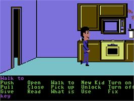 In game image of Maniac Mansion on the Commodore 64.