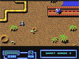 In game image of Marauder on the Commodore 64.