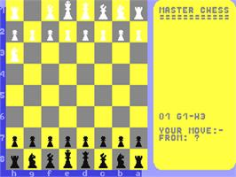 In game image of Master Chess on the Commodore 64.