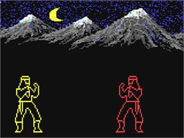 In game image of Master Ninja: Shadow Warrior of Death on the Commodore 64.