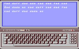 In game image of Mavis Beacon Teaches Typing! on the Commodore 64.