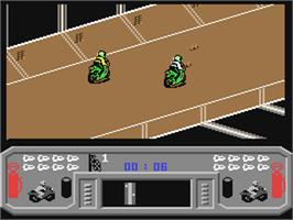 In game image of Mean Streak on the Commodore 64.