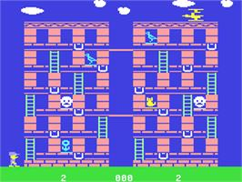 In game image of Memory Manor on the Commodore 64.