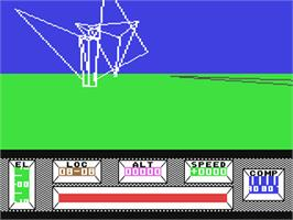 In game image of Mercenary: Escape From Targ with the Second City on the Commodore 64.