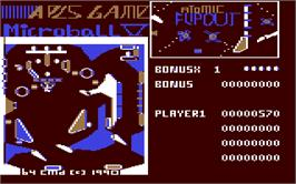 In game image of Microball on the Commodore 64.
