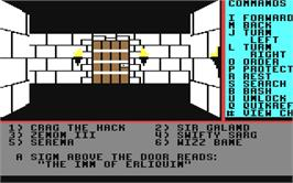 In game image of Might and Magic: Book I on the Commodore 64.