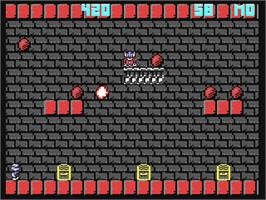 In game image of Mighty Bombjack on the Commodore 64.