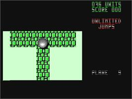 In game image of Mind-Roll on the Commodore 64.