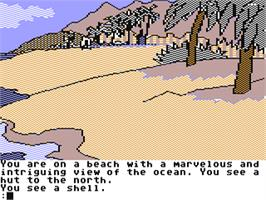 In game image of Mindshadow on the Commodore 64.