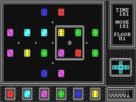In game image of Mindtrap on the Commodore 64.