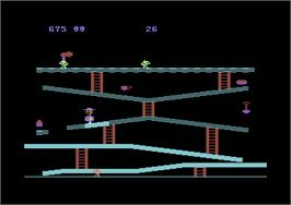 In game image of Miner 2049er on the Commodore 64.