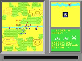 In game image of Modem Wars on the Commodore 64.