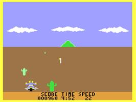 In game image of Motocross Racer on the Commodore 64.