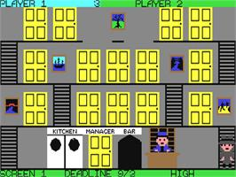 In game image of Mr. Angry on the Commodore 64.