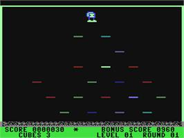 In game image of Mr. Cool on the Commodore 64.