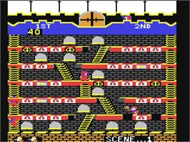 In game image of Mr. Do!'s Castle on the Commodore 64.