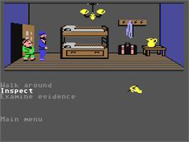 In game image of Murder on the Mississippi on the Commodore 64.