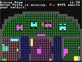 In game image of Murder on the Zinderneuf on the Commodore 64.