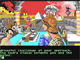 In game image of Myth: History in the Making on the Commodore 64.