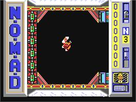 In game image of N.O.M.A.D. on the Commodore 64.