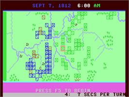 In game image of Napoleon In Russia: Borodino 1812 on the Commodore 64.