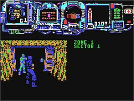 In game image of Narco Police on the Commodore 64.