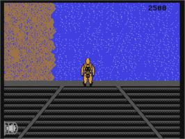 In game image of Navy Seal on the Commodore 64.