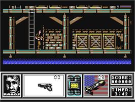 In game image of Navy Seals on the Commodore 64.
