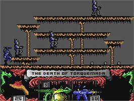 In game image of Nemesis the Warlock on the Commodore 64.