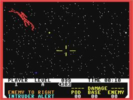 In game image of Neutral Zone on the Commodore 64.