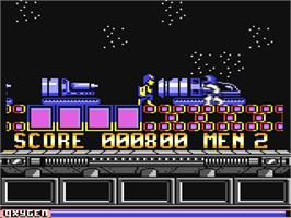 In game image of NorthStar on the Commodore 64.