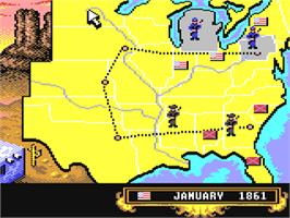 In game image of North & South on the Commodore 64.