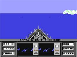 In game image of Ocean Ranger on the Commodore 64.