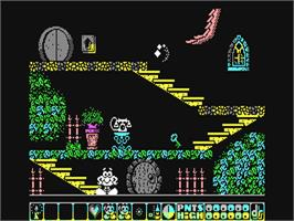 In game image of Olli & Lissa 3: The Candlelight Adventure on the Commodore 64.
