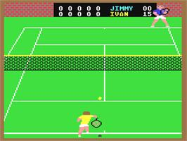 In game image of On-Court Tennis on the Commodore 64.