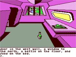 In game image of Oo-Topos on the Commodore 64.