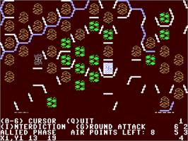 In game image of Operation Market Garden: Drive on Arnhem, September 1944 on the Commodore 64.