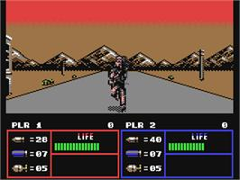 In game image of Operation Thunderbolt on the Commodore 64.