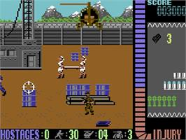 In game image of Operation Wolf on the Commodore 64.