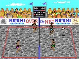 In game image of Over the Net on the Commodore 64.