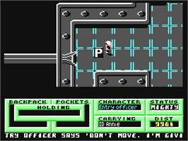 In game image of Pandora on the Commodore 64.