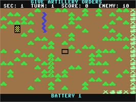 In game image of Panzer-Jagd on the Commodore 64.