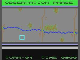In game image of Panzer Grenadier on the Commodore 64.