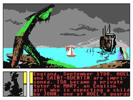 In game image of Passengers on the Wind on the Commodore 64.