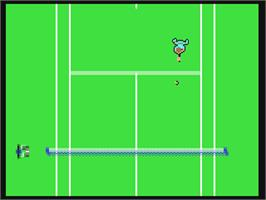 In game image of Passing Shot on the Commodore 64.