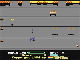 In game image of Pastfinder on the Commodore 64.