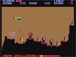 In game image of Penetrator on the Commodore 64.