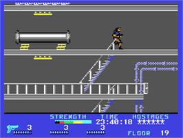 In game image of Persian Gulf Inferno on the Commodore 64.